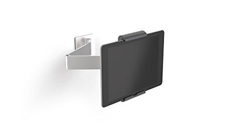 Durable 893423 Tablet Muurbeugel (Zwenkarm Voor Tablets 7-13 Inch, 360 ° Draaibaar), Zilver/Antraciet
