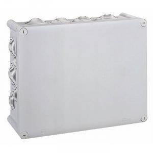 Caja rectangular gris–310x 240mm–24puntas–Tapa tornillo 1/4de vuelta–Plexo–Legrand