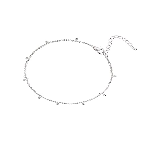 Dainty Ankle Bracelettrendy Jewelry Lady Anklet Transit Bead Anklet Foot Jewelry Simple Fashion Ankle Bracelet Lady Anklet
