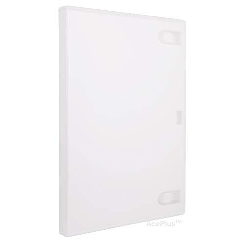 AcePlus 100 Standard 14mm Solid White Color Single DVD Cases