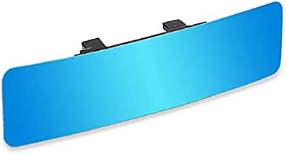 (Latest Version)SkycropHD Anti Glare Rear View Mirror Frameless Car Interior Rearview Mirror Wide Angle to Eliminate Blind Spots – Convex,11.8in (Blue)