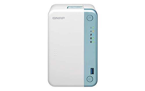 QNAP TS 251D 4G 2 Bay Home NAS mit Intel Celeron J4005 CPU und einem 1GbE Port
