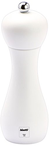Bisetti BT-42532 Rimini Matte Salt Mill, 7.10-Inch, White
