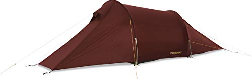 Nordisk Halland 2 LW tent, rood (burnt Red), eenheidsmaat