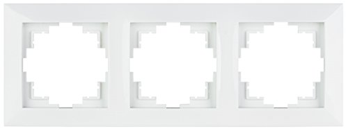 Abdeckrahmen aus Kunststoff 3-fach, weiß, (Abdeckrahmen 3-fach, Kunststoff weiß)