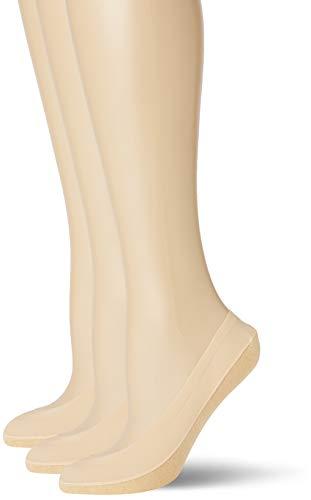 Pretty Polly Damen Natural Footsie With Cotton Sole 1pp Füßlinge, 30, Beige (Nude Nude), Medium (Herstellergröße: SM) (3er Pack)