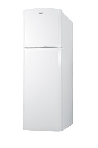 "Summit FF946W 8.8 cu.ft. Frost-Free Refrigerator-Freezer With Glass Shelves In Slim 22"" Width For Small Kitchens, White"