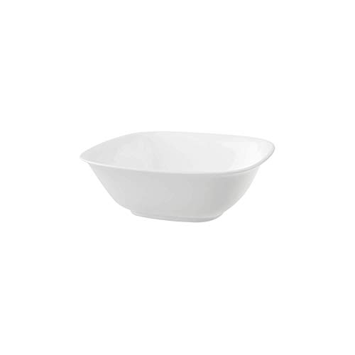 Villeroy & Boch Royal Plat creux carré, Porcelaine Premium Bone, Blanc