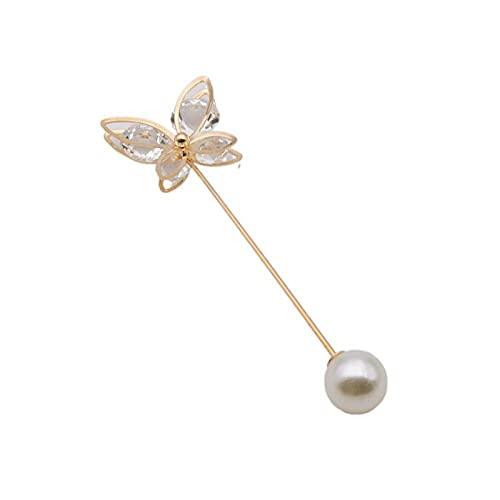 Diamante de la correa de oro de la mariposa de la flor de cinco pétalos, una palabra, pecho, brazalete anti-luz cintura-Pin de mariposa