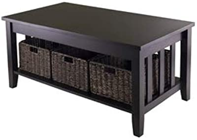 """Amazon.com: WE Furniture, mesa de centro de 40"""" para ..."""