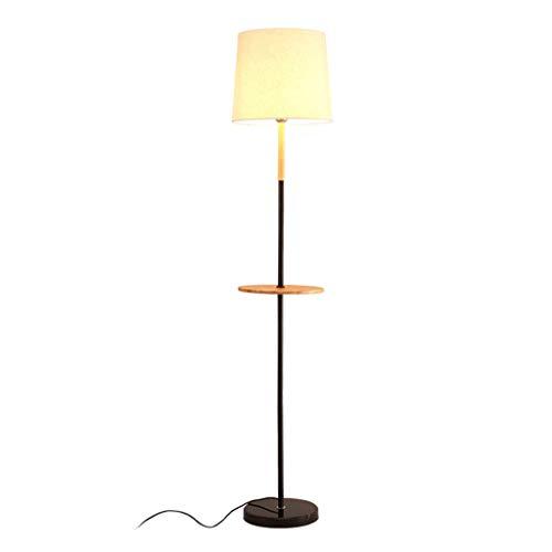 QTDH Moderne combinatie bijzettafel staande lamp, klassieke nacht staande leeslamp met salontafel, hoge paallamp voor woonkamer, slaapkamer, kantoor