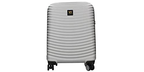 Trolley cabin bagaglio a mano WAV rigido 4 ruote policarbonato ynot Y not? grigio silver