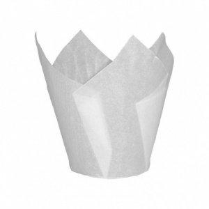 Bakery Direct - Confezione da 200 adesivi per muffin a tulipano bianco