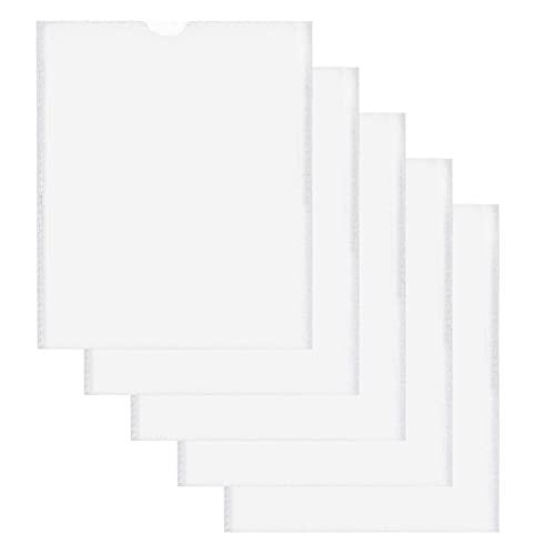 Sanshao Schutzhülle Hülle,Impfpass Hülle für den neuen Impfpass,Germany Impfpasshülle Impfbescheinigung Impfausweis für Kinder und Erwachsene,Transparent wasserdichte PVC Hülle (109mm x155 mm) (5pcs)