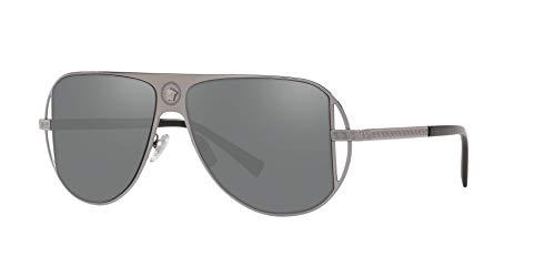 Versace 0VE2212 Gafas de sol, Gunmetal, 56 para Hombre