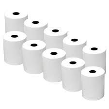 """Thermal Credit Card Machine Paper for Verifone VX520, 2 1⁄4"""" x 50' (10 Rolls)"""