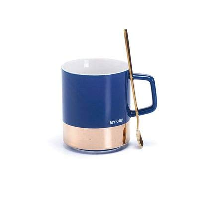 Copa De Vino Taza De Café Tazaeuropean Simple Ceramic Mug Coffee Breakfast Milk Cup Large Capacity Office With Spoon Home Water Drinkw