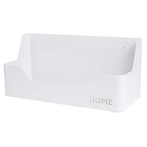 Nachttischregal – zum Aufkleben an der Wand montiert, für Schlafzimmer, Wohnheim, Büro, selbstklebender Caddy für Handy, Gläser, Fernbedienung, Schlüssel, Stifte – Kunststoff-Material – Weiß