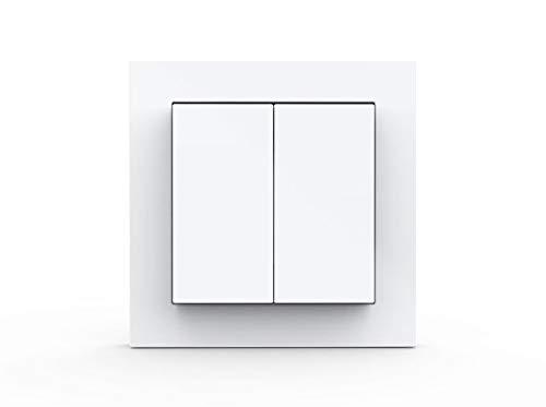 Friends of Hue Smart Switch: Kabelloser Philips Hue Schalter und Dimmer (Keine Batterien, Kein Aufladen, Exklusiv für Philips Hue Lichter), Weiß Matt