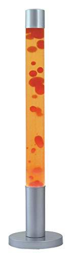 Rabalux 4111, Dovce Lavalampe, Glas, 40Watt, E14, rot/gelb/silber, 18,5x 18,5x 76cm