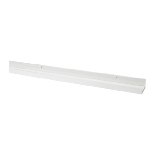 Modern White Floating Ledge for Photos, Pictures and Frames 45.25 inch Long