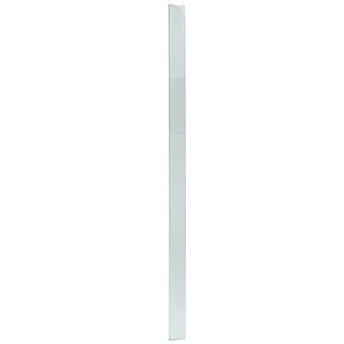 LEO's - 100 x Klemmschienen Transparent DIN A5 (210 mm) FH 3-4 mm für ca. 30 Blatt - Klemmschiene zum Binden von ungelochten Papier Unterlagen und Blattsammlungen - Klemmleiste aus Hart-PVC