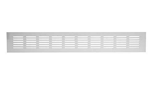 60x400mm Aluminium Lüftungsgitter Weiß Stegblech Lüftung Alu-Gitter Gitter Möbelgitter Möbellüftung