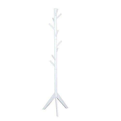 SKC Lighting-Porte-manteau Moderne Minimaliste Manteau Rack En Bois Solide Rack étage Chambre Hanger Arbre Chapeau Rack Peach Couleur, Blanc, Couleur du Bois (43.5 * 43.5 * 175CM) ( Couleur : Peach color )