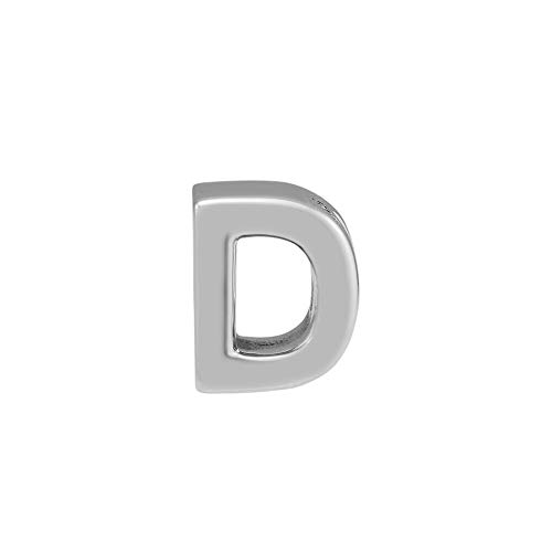 Diy 925 Sterling Silver Bead Alphabet Letter D Charm Beads Fits Original Pandora Bracelet Argent Jewelry Making