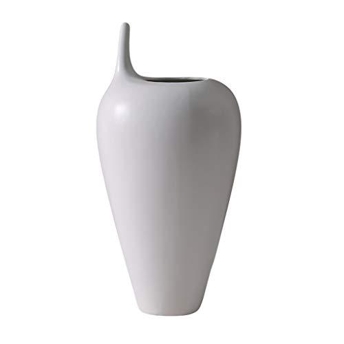 Vaas met fijne mond, keramiek, grote bloemen, gedroogd arrangement, bloem, wijn, veranda decoratie, woonkamerdecoratie