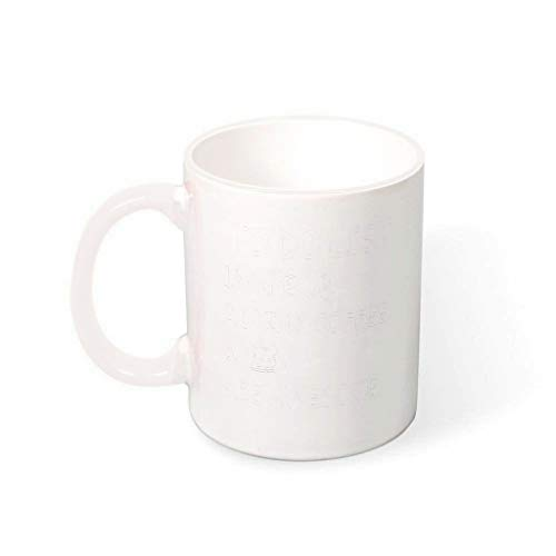 Taza de cerámica de alta calidad con lista de tareas, 330 ml, color blanco