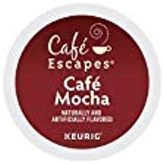 Cafe Escapes, Cafe Mocha Coffee Beverage, Single-Serve Keurig K-Cup Pods, 96 Count (4 Boxes of 24 Pods) - pack of 2