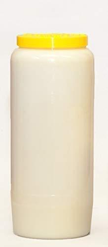 St. Jakob´s 20 Ewiglichtölkerzen, 100% reines Öl, Grabkerzen, Grablichter, Öllichter, 7 Tage, Farbe: rot und weiß (Weiß) für Grablaterne, Grablampe, Grableuchte zur Grabgestaltung