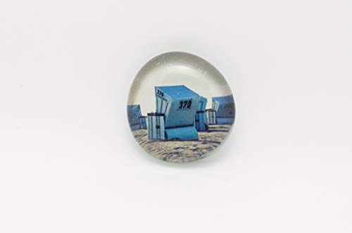 Strandkorb Sylt Glas Magnet Kühlschrankmagnet