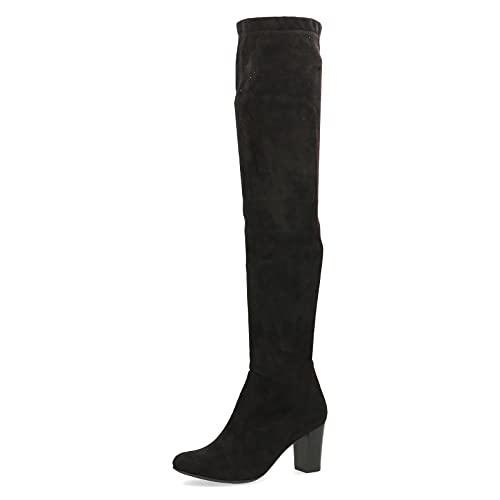 Caprice Damen 9-9-25500-27 Overknee-Stiefel, Black Stretch, 39 EU
