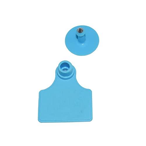 LQHZ Etiqueta del oído 25pcs Signas de Etiqueta de Oreja sin Oreja de Word Tiping Pendientes de Cabeza de Cobre Tarjeta de identificación de Animales Fina Mano de Obra y práctica. (Color : Blue)