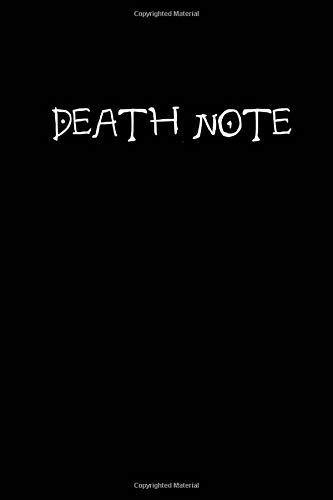DEATH NOTE 2020: Manga Notebook,DEATH NOTE Notebook, Cartoon Notebook, Awesome Journal Gift. Blanc Lined notbook, 100pages, 6*9 inches .