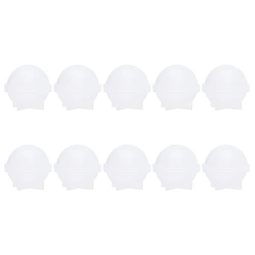 Milisten - 10 stampi a sfera rotondi, in silicone, resina epossidica, per la fabbricazione di gioielli, candele, cera, bagno, bomba, sapone, bricolage, artigianato, 20 mm