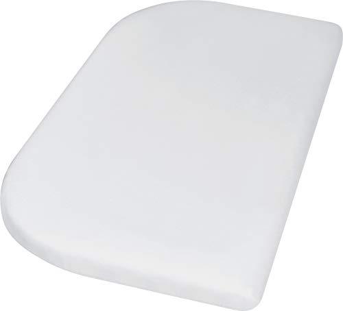 Playshoes 770325-1 Jersey-Spannbettlaken für das Beistellbett, Wasserdicht und Atmungsaktiv, 89 x 51 x 10cm, weiß, weiß
