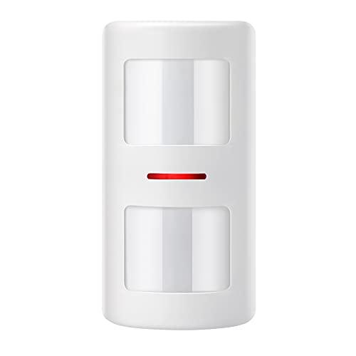 YISEELE Anti-Pet PIR Sensor de movimiento Alarma con cable Detector de infrarrojos dual Inmune a mascotas para el sistema de alarma de seguridad antirrobo en el hogar