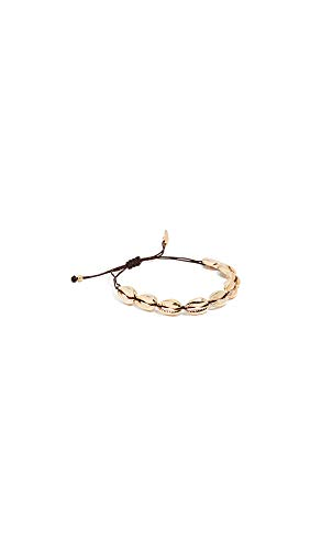 Maison Irem Women's Saint Barth Shell Bracelet, Brass/Gold, One Size