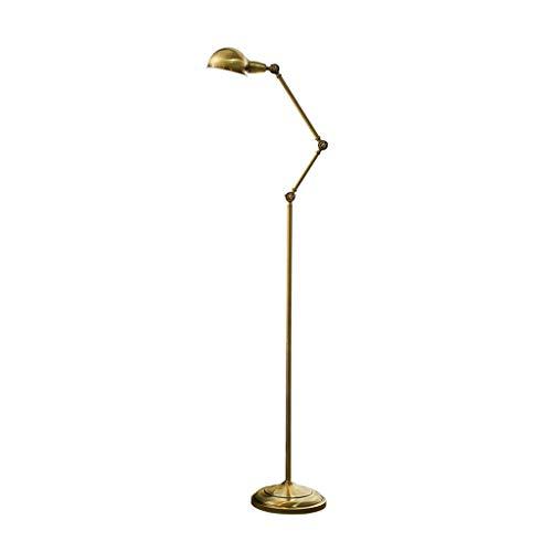 Bronzen LED vloerlamp woonkamer Nordic vloerlamp slaapkamer eenvoudige moderne studie leeslamp