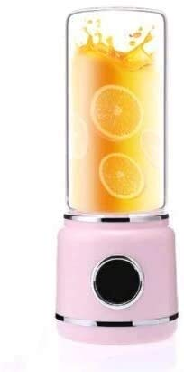 QXYMY Juicer 420ml USB Recargable Mezclador P Mini Juicer Máquina Smoothie Maker Pequeño Extracto De Jugo O con Copa De Cristal Rosa Kshu (Col O: Rosa) (Color : Pink)