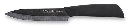 3 Claveles Cuchillo Cerámica, Negro, 10 cm
