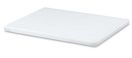 AUSONIA - 66422 Tabla de cortar polietileno de carnicero blanco 30 x 20 x 1