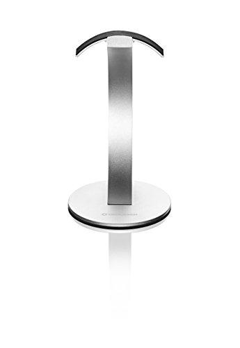 Oehlbach Alu Style | Hochwertiger Kopfhörerständer im exklusiven Design - Aluminium eloxiert | Materialschonende Aufbewahrung für Kopfhörer | silber