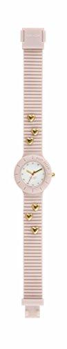 Orologio HIP HOP donna HEARTBREAKERS quadrante bianco e cinturino in silicone, glam rosa, movimento SOLO TEMPO - 3H QUARZO