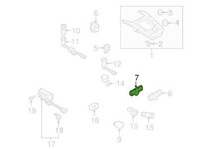 Botón de interruptor múltiple ESP de la consola central 8K0959673HV10
