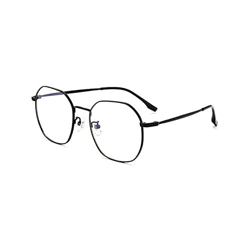 LGQ Gafas de Lectura con Montura de Titanio Puro a la Moda, Lentes progresivas multifocales/Anti-luz Azul/HD para Hombres y Mujeres, dioptrías +1,00 a +3,00,Negro,+2.00