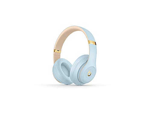 Beats Studio3 Wireless Headphones - The Beats Skyline Collection - Crystal Blue (Renewed)